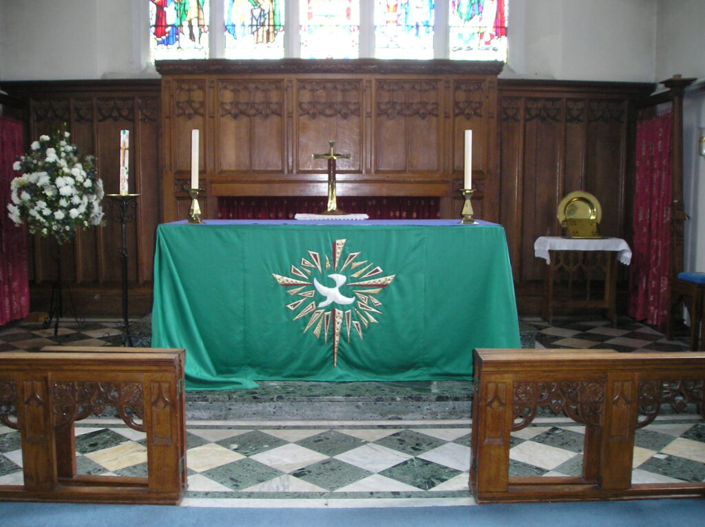 photo of altar at St James
